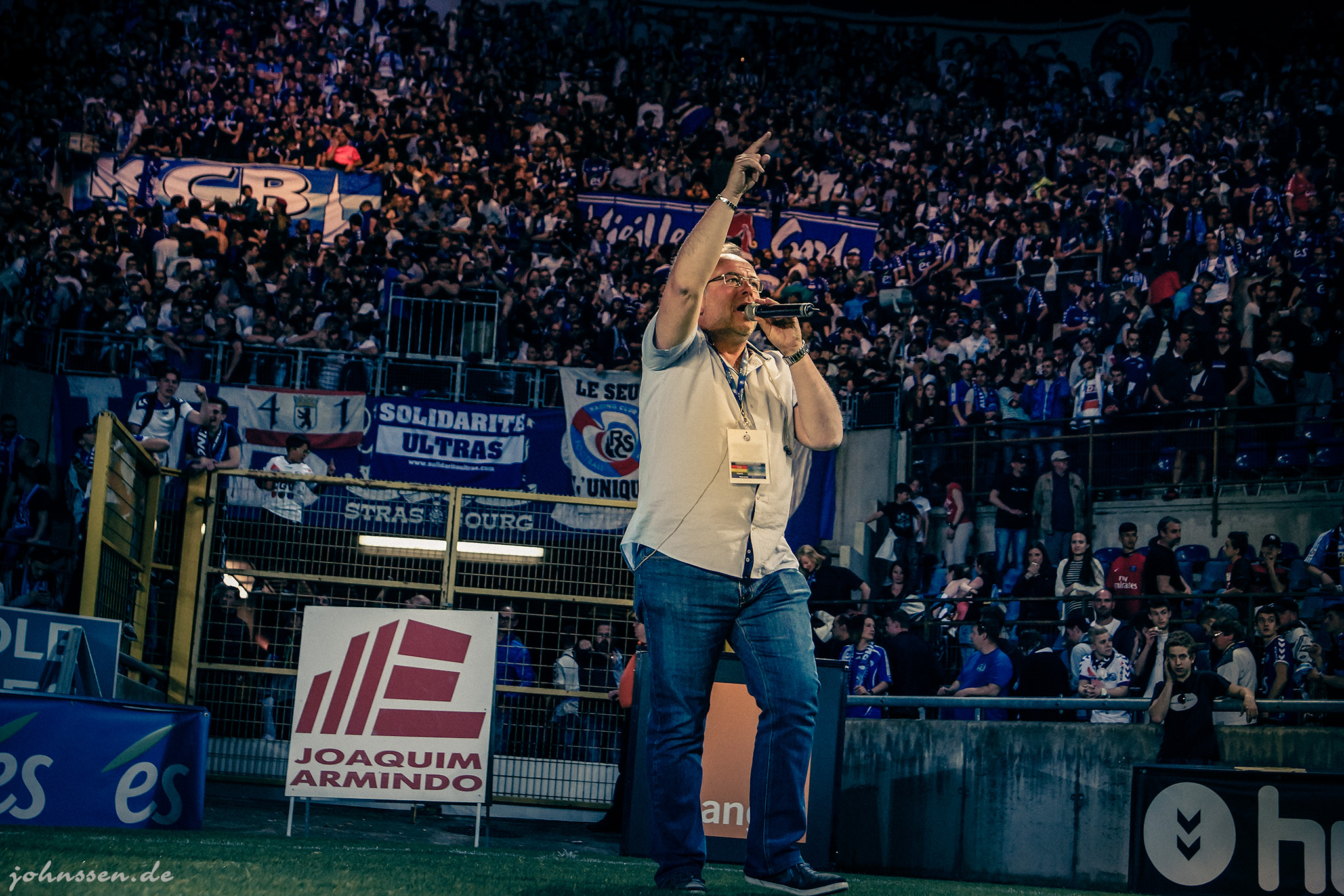Jean-Luc Filser, le speakeur du stade de la Meinau